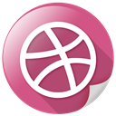Arrow, Circle, dribbble, network, marketing, sports IndianRed icon