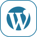 line, Wordpress DarkCyan icon