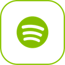 Spotify, line Black icon