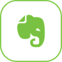line, Evernote Black icon