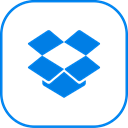 line, dropbox Black icon