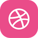 dribbble, Dribble PaleVioletRed icon