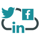 social networks, twitter, meeting, Cloud, Mobile, group, Facebook Black icon