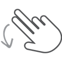 interactive, Down, scroll, Finger, Hand, swipe, Gesture Black icon
