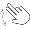 swipe, Finger, interactive, Pinch, Gesture, scroll, Hand Black icon