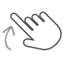 Up, scroll, Gesture, Hand, Finger, swipe, interactive Black icon