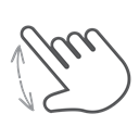 scroll, swipe, Gesture, spread, Finger, Hand, interactive Black icon