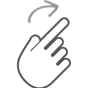 scroll, Gesture, Hand, interactive, swipe, right, Finger Black icon