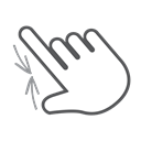 scroll, Gesture, Hand, swipe, interactive, Finger, Pinch Black icon