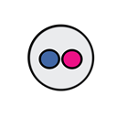 flickr Black icon