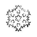 weather, winter, Ice, freeze, snowflake, forecast, Cold Black icon