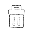Dustbin, Bin, Trash, delete, recycle, remove Black icon