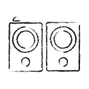 Audio, music, Up, Mute, volume, sound, speaker Black icon