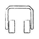 Headphone, volume, speaker, Headphones, sound Black icon