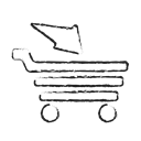 full cart, Finance, shopping, sale, Cart, Basket Black icon