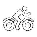 vehicle, rider, Bike, transport, Delivery, user Black icon