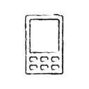 smartphone, network, phone, Mobile, technology, Connection, Communication Black icon