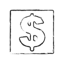 Price, exchange, Dollar, Currency, banking, payment Black icon