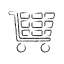 Full, Cart, online, ecommerce, Pen, shopping, full cart Black icon