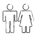 Couple, Female, washroom sign, Gender, male, group, user group Black icon