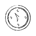 Alarm, compass, Alert, watch, event, Clock, Direction Black icon