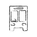 vehicle, doodle, Bus, transport, travel, transportation, school bus Icon
