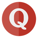 media, Social, Quora, Circle IndianRed icon
