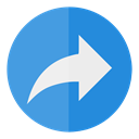 share, Circle CornflowerBlue icon
