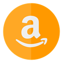 sell, Amazon, buy, Shop, Circle Orange icon