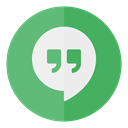 Hangouts, media, Social, Circle MediumSeaGreen icon