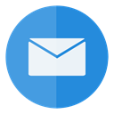 Letter, Email, Circle, mail, e-mail, Message, send DodgerBlue icon