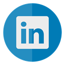 In, Linkedin, media, linked, Social, Circle SteelBlue icon
