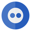 Circle, media, flickr, Social SteelBlue icon