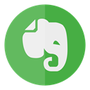 Note, Circle, Evernote Icon