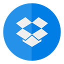 dropbox, Circle, Cloud DodgerBlue icon