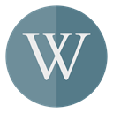 Circle, wikipedia, media SlateGray icon