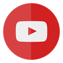 you, tube, media, Social, Circle, youtube IndianRed icon
