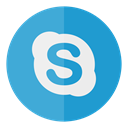media, Circle, Social, Skype MediumTurquoise icon