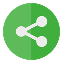 Circle, Social, media, share MediumSeaGreen icon