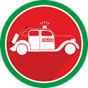 Car, Automobile, vehicle, police Crimson icon
