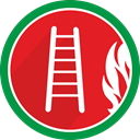 Ladder, Stairs, Burn, Flame, fire Crimson icon