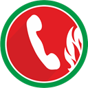 telephone, fire, phone, talk, Communication, Call Crimson icon