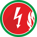 electricity, fire, lightning, spark, Electric, Flame Crimson icon