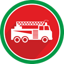 logistics, vehicle, fire, Flame, Car, truck Icon