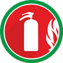 fire, Damage, danger, problem, Burn, Flame, Extinguisher Crimson icon