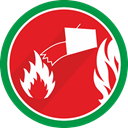 water, Damp, wet, fire Crimson icon