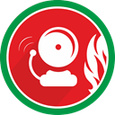 bell, danger, problem, Alarm, fire, Attention Crimson icon