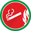 Smoke, smoking, Cigarette, fire, tobacco, Cigar Crimson icon