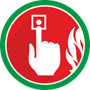 fire, Alert, warning, problem, Alarm Crimson icon