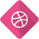 dribbble, Logo, web, network, internet, Social IndianRed icon